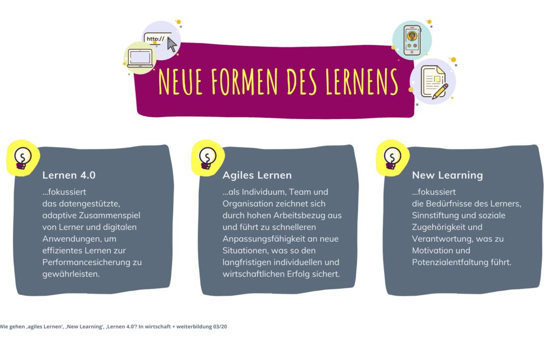 Agiles Lernen, New Learning, Lernen 4.0: Neue Formen des Lernens